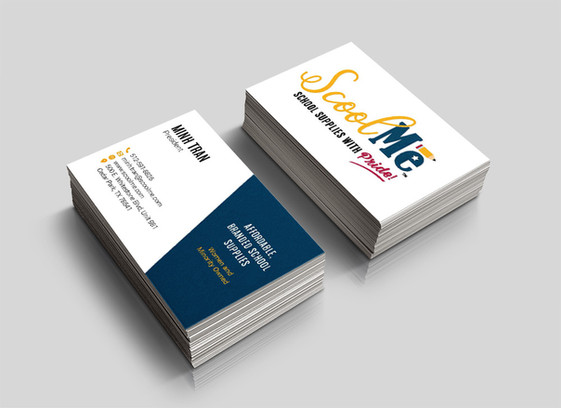 ScoolMe business cards