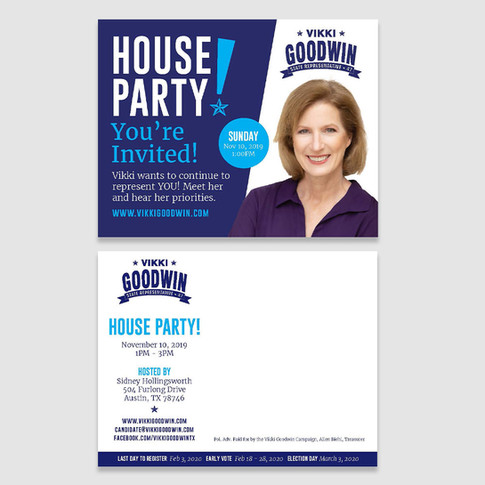 Rep. Goodwin fundraiser postcard