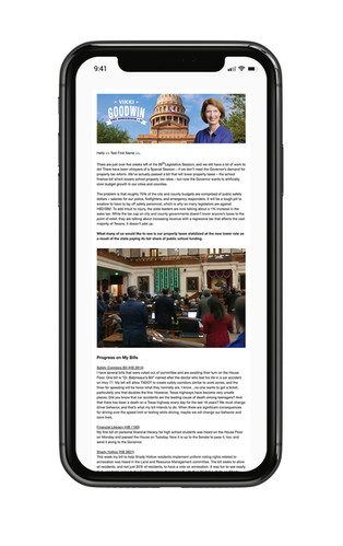 Rep. Goodwin email template