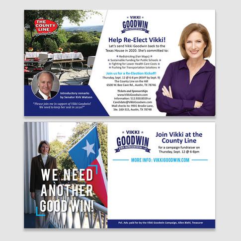 Rep. Goodwin fundraiser postcard