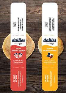 Dailies breakfast sandwich labels