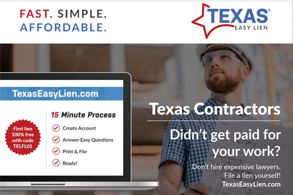Texas Easy Lien