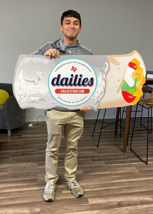 Dailies taco cart sign