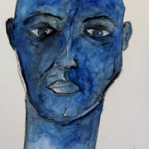 Portrait bleu