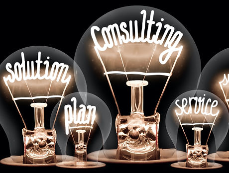 Photo%20of%20light%20bulbs%20with%20shining%20fibers%20in%20a%20shape%20of%20CONSULTING%20concept%20