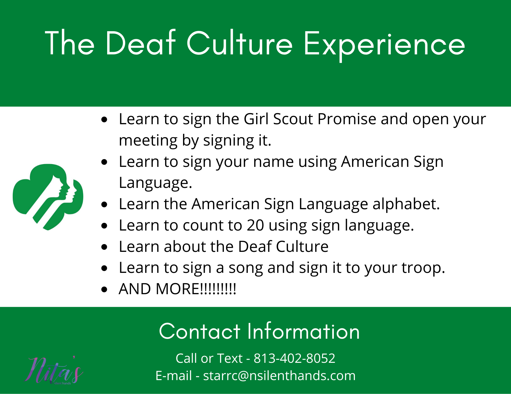 Deaf Culture Experience ( Girls Scouts)