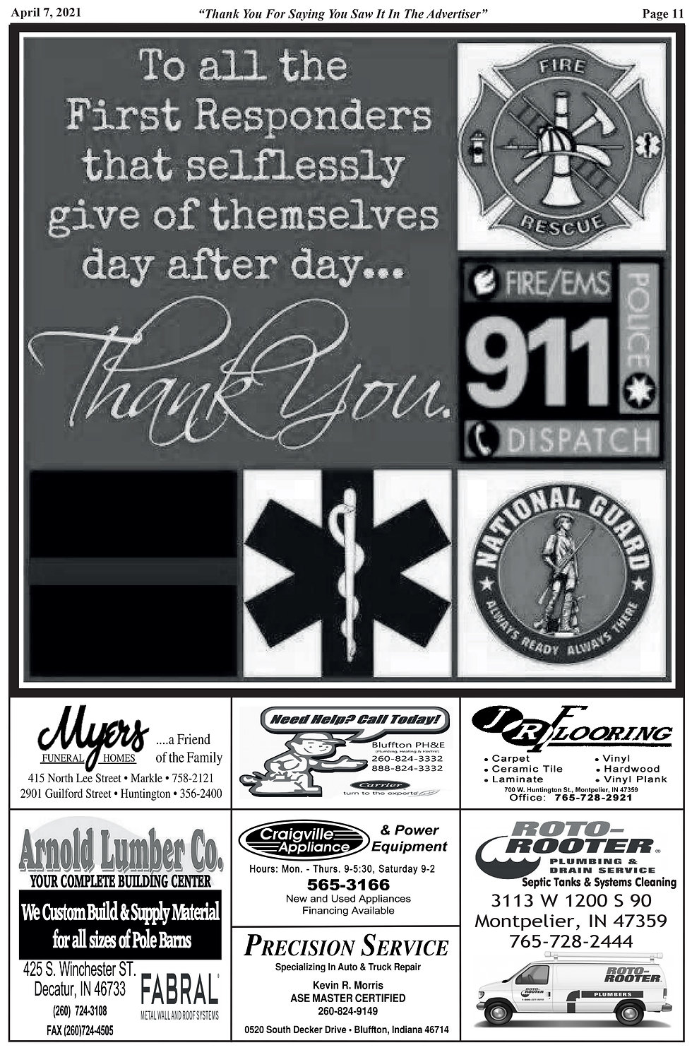 Salute to First Responders