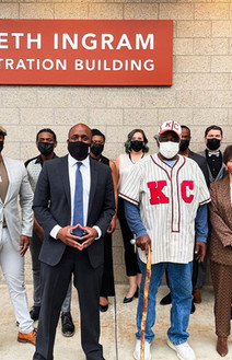 Cast of Baseball with KC Mayor Quinton Lucas