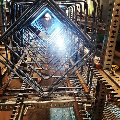 prefabricated weldwed rebar cages