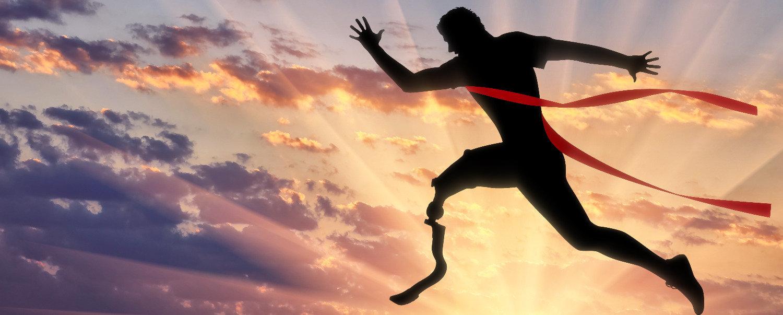 jumping man with proshtesis