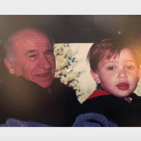 Ethan with his grandfather, who spent spent half of his life housing those with mental illness