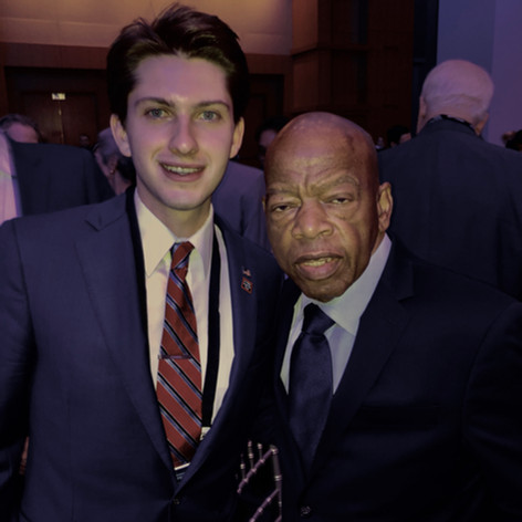 Ethan with one of his heroes, civil rights icon and Congressman John Lewis — may his memory be a blessing