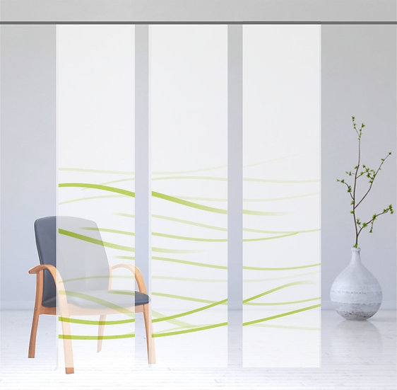 """Flächenvorhang   """"Waves"""" green   3er Serie"""