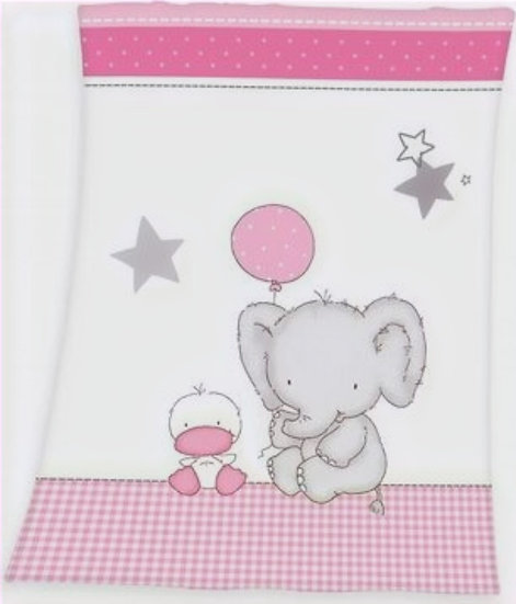Elefant Flauschdecke 75x100cm