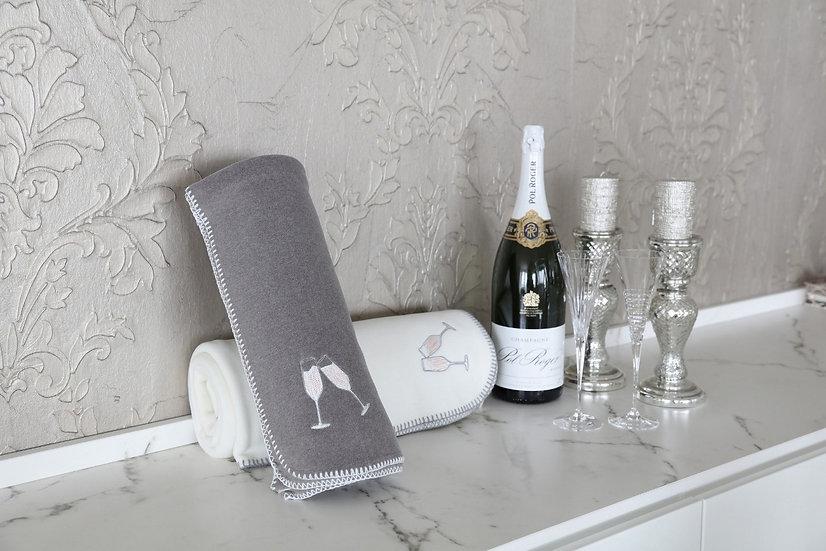 Decke Luxusvelours Champagner