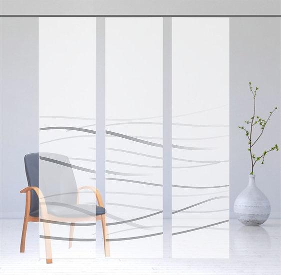 """Flächenvorhang """"Waves"""" grey 3er Serie"""
