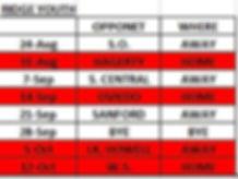 2019 Ridge Youth Football schedule.JPG