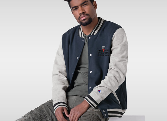 Brand Embroidered Champion Bomber Jacket