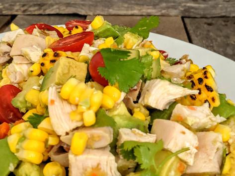 Chicken, Corn and Avocado No Cook Supper