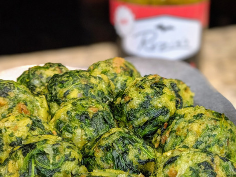 Hot and Savory Spinach Balls