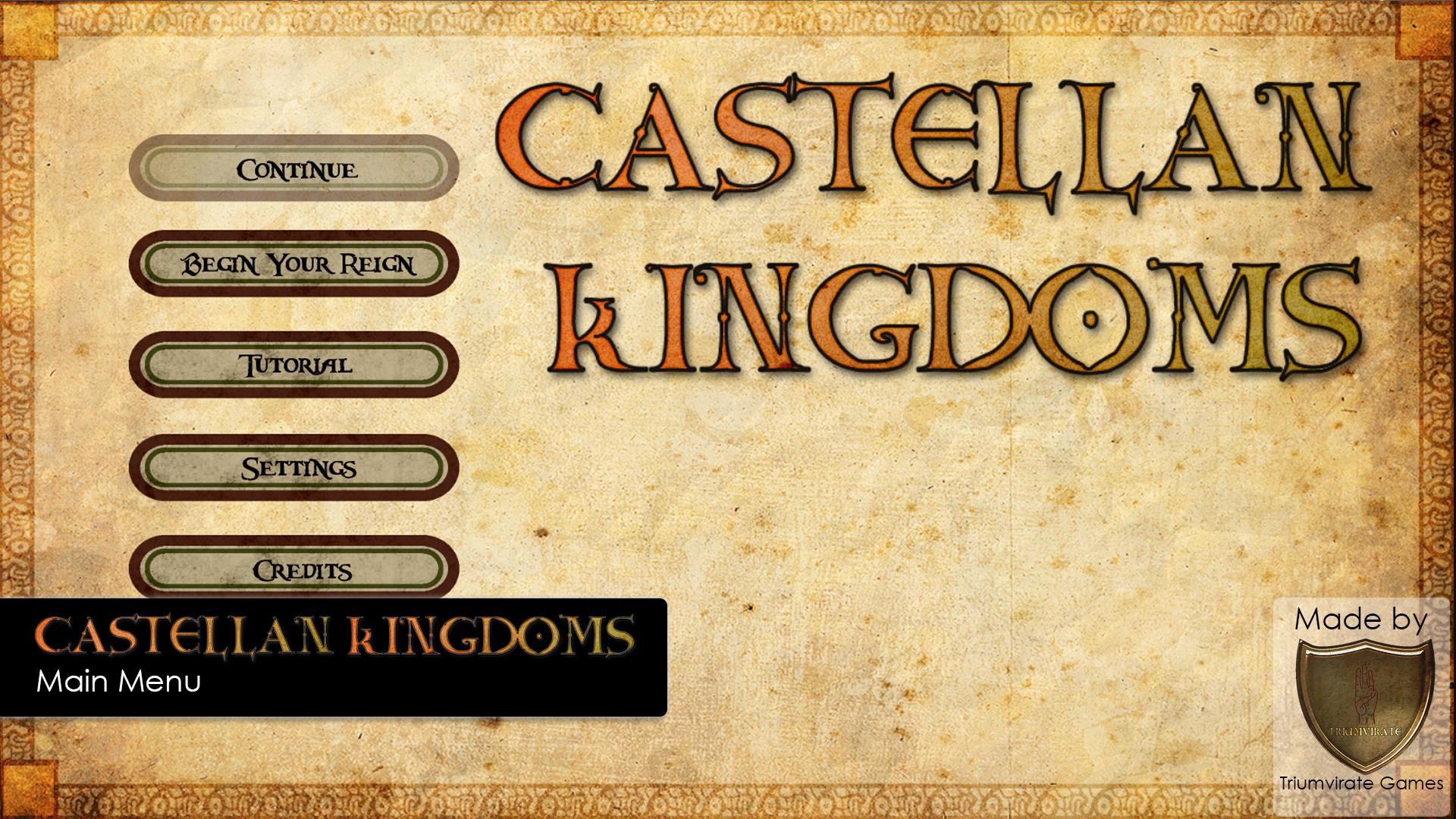 Castellan Kingdoms main menu