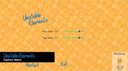 Unstable Elements Options Menu