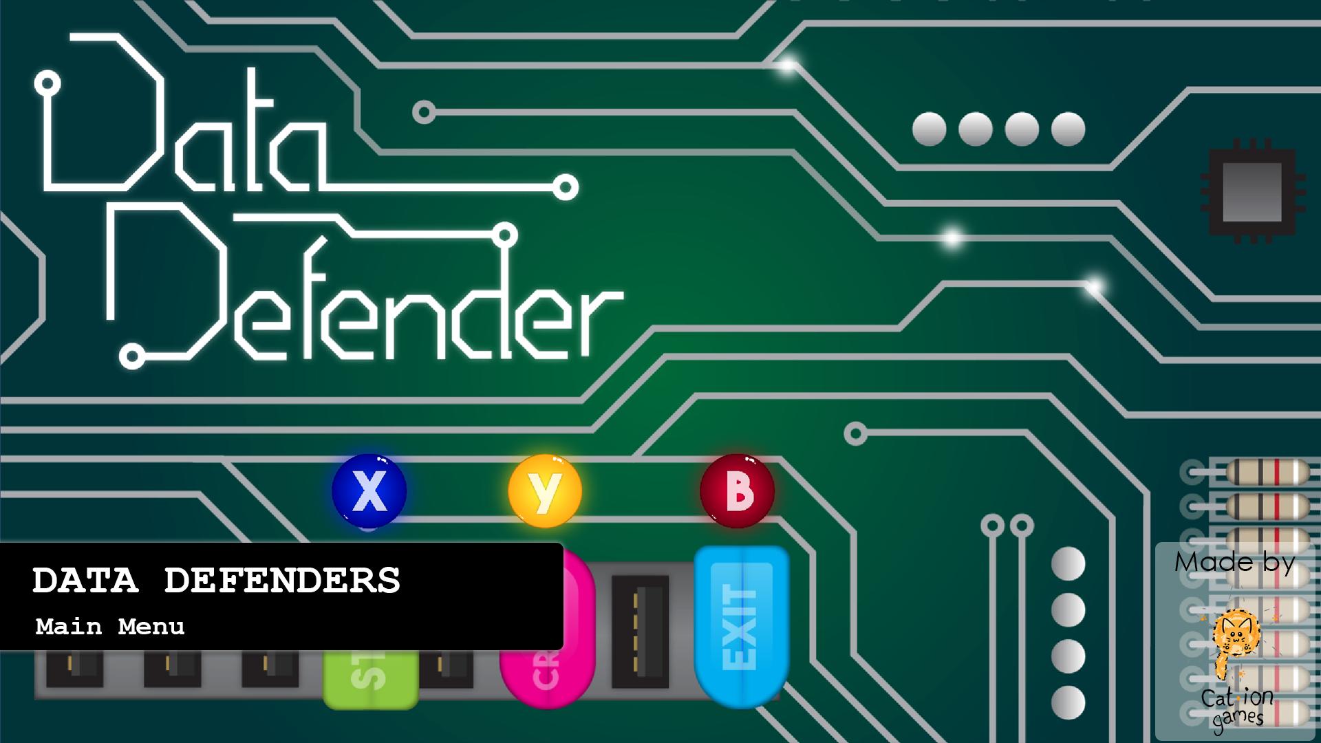 Data Defender Main Menu