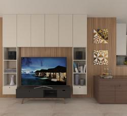 Armário e painel da TV - CASA FV