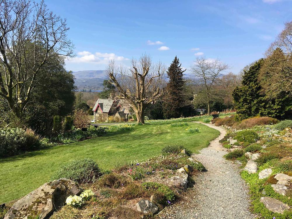 Rock gardens, narcissus & Lakeland landscape