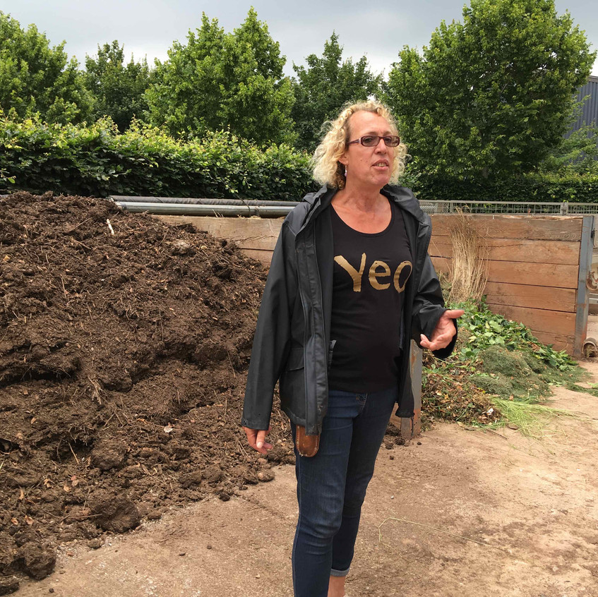 Andi explains composting methods