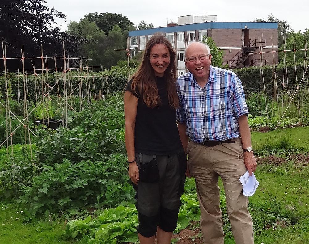 Debi with tutor John Addison at Cannington