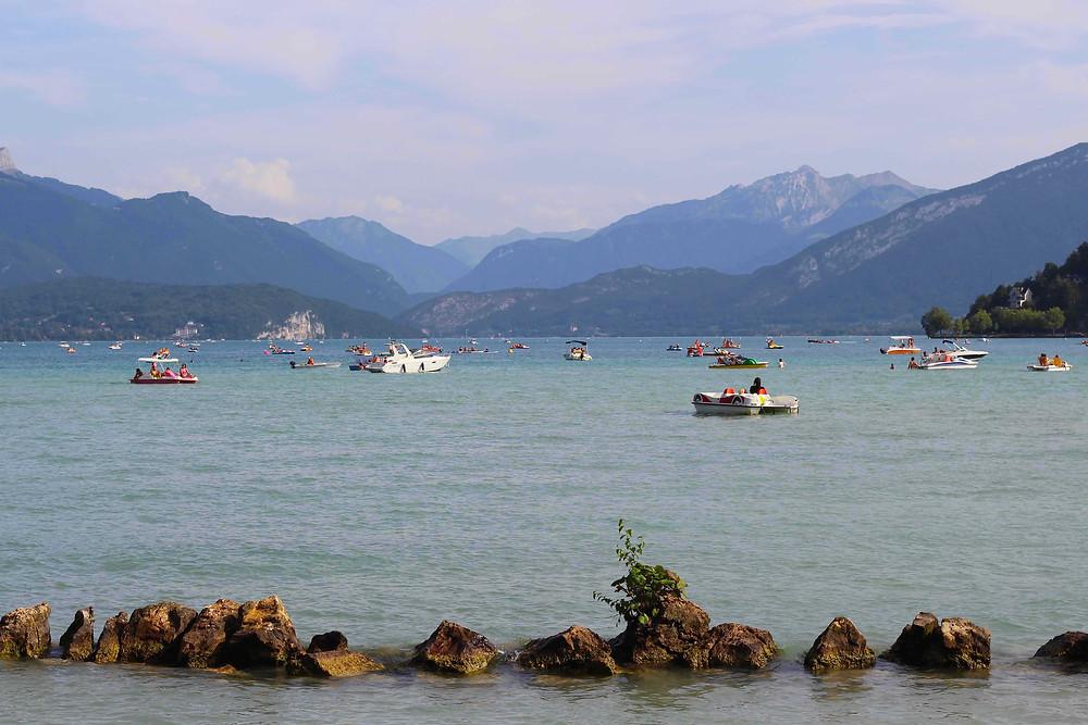 Lakeland views of Bauges massif