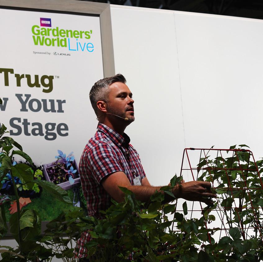 Rob Smith at Veg Trug stage