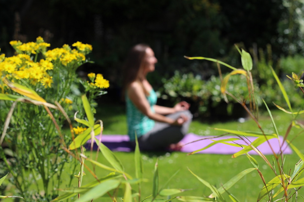 Relax in your garden and try yoga