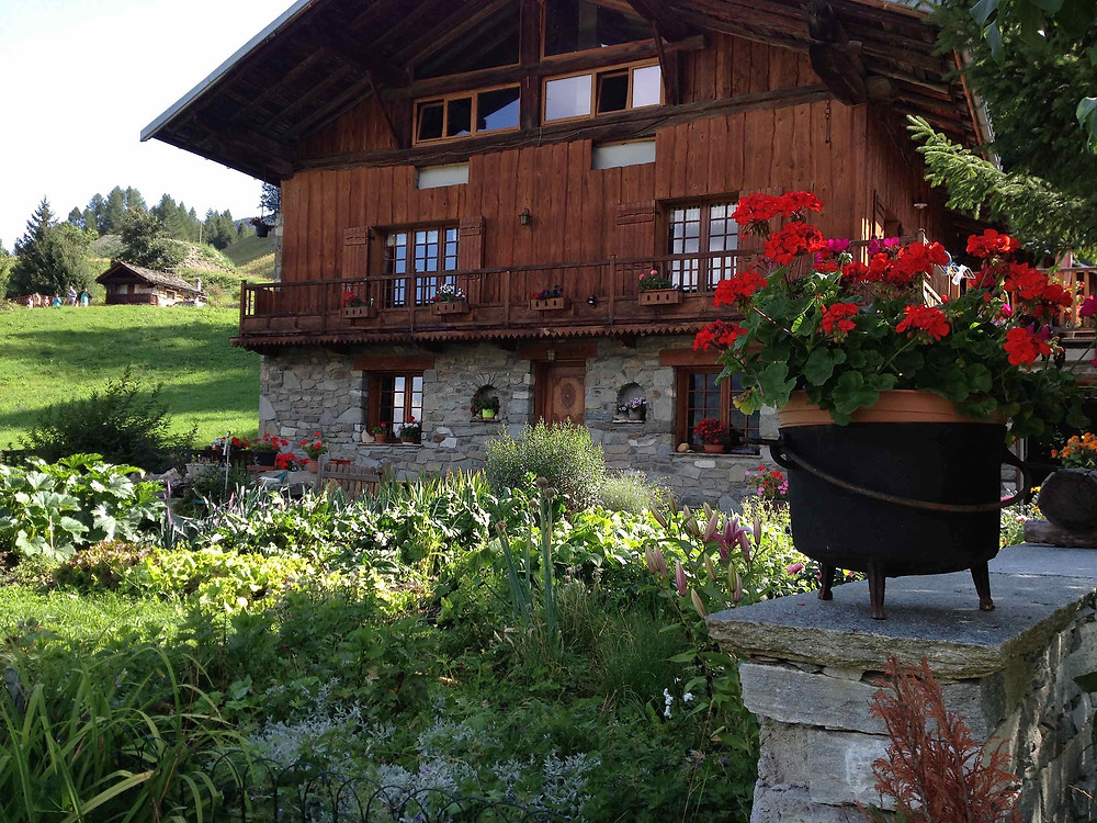 Alpine kitchen garden at Sainte Foy Station
