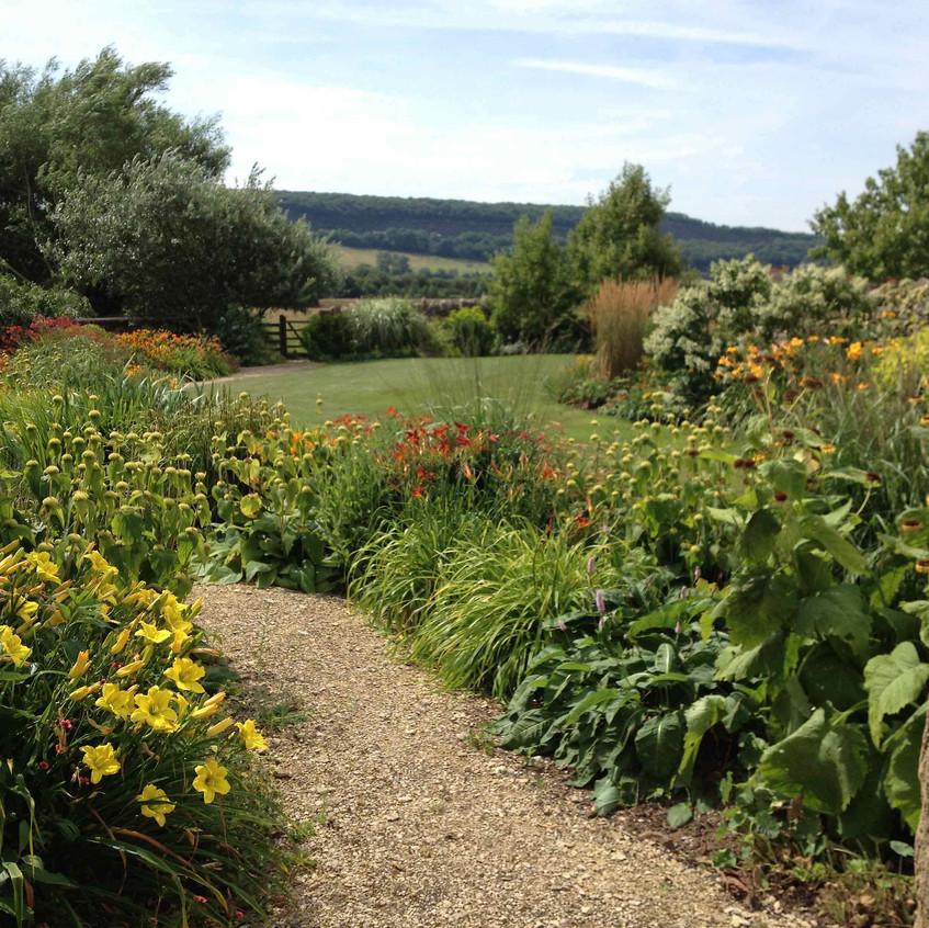 Lower garden view across Gordano Valley