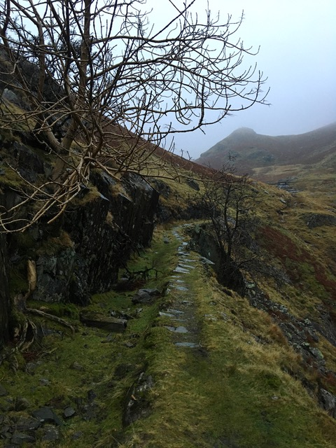 Mining path on fells