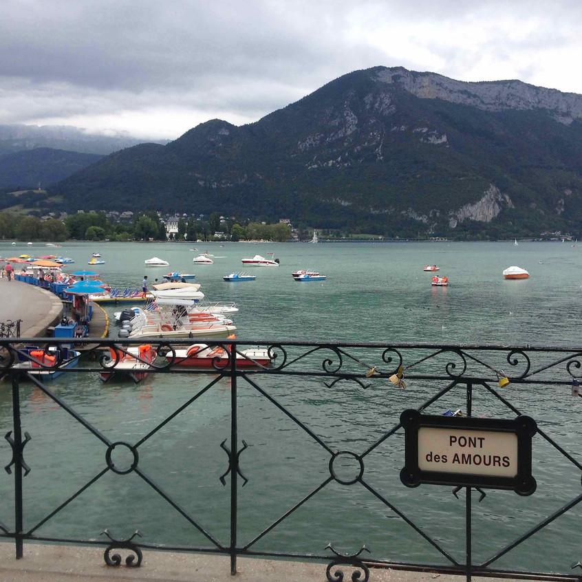 Pont des Amours Lac Annecy view