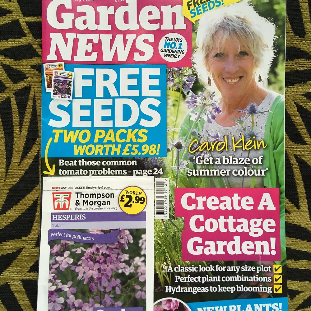 Front cover of 4 July 2020 Garden News magazine