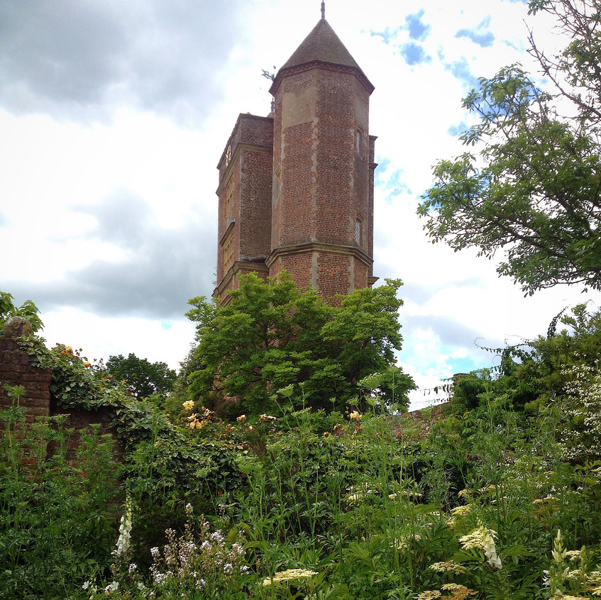 Vitas tower from white garden