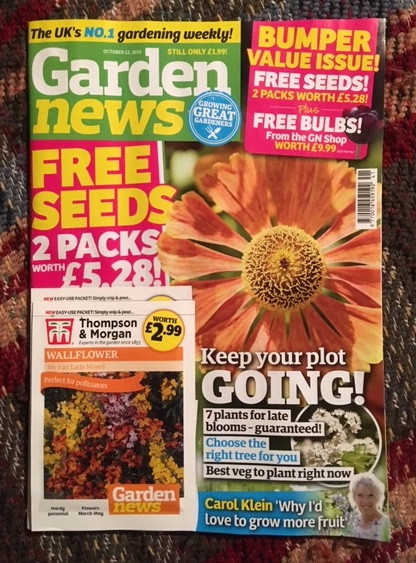 Garden News Magazine front cover 8 October 2019