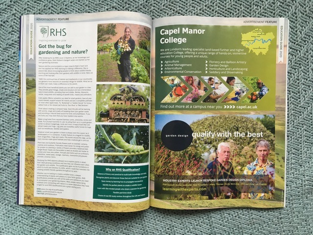 Double page spread of January 2020 BBC Countryfile magazine
