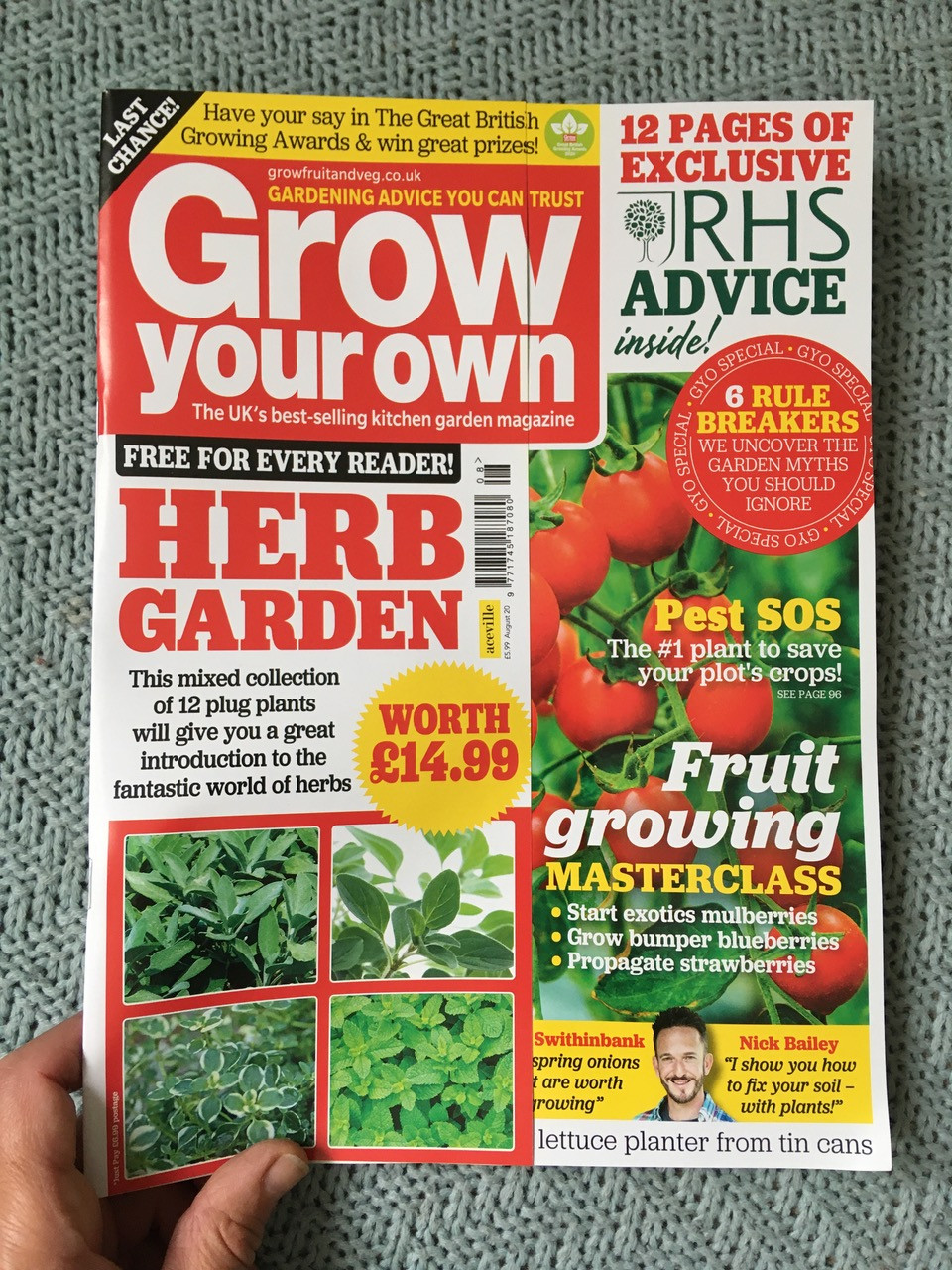 August edition of Grow Your Own magazine