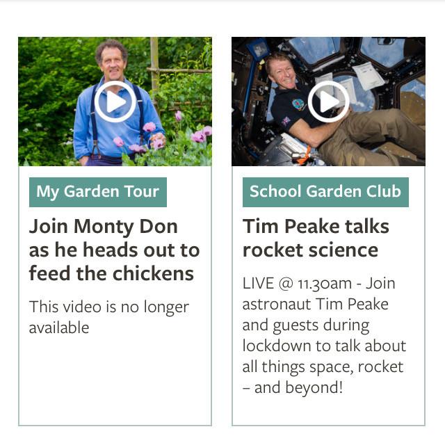 Monty Don and Tim Peake