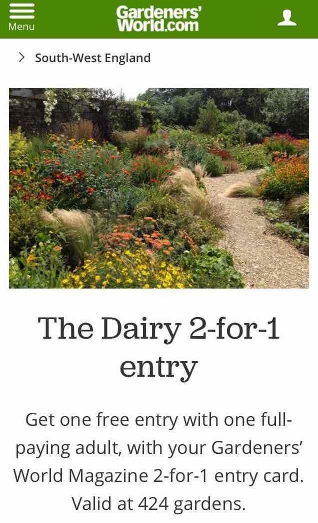 The Dairy 2-for-1 entry GardenersWorld.com