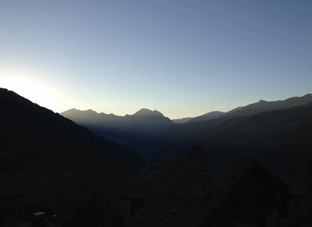 Sun down in the Tarentaise valley