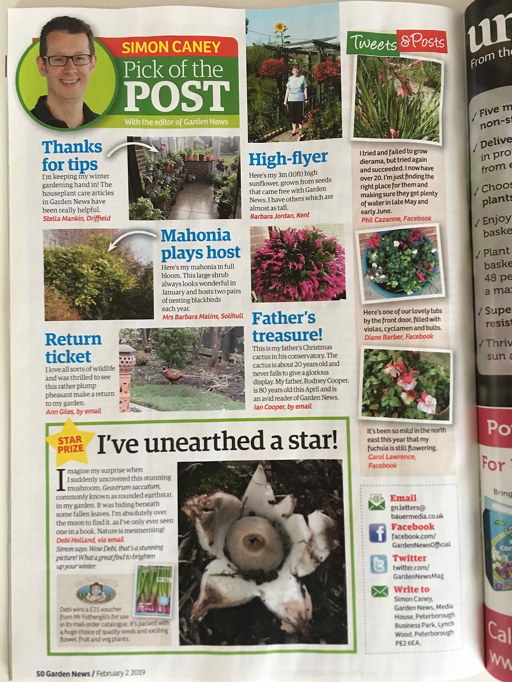 Garden News magazine 'Pick of the Post.'