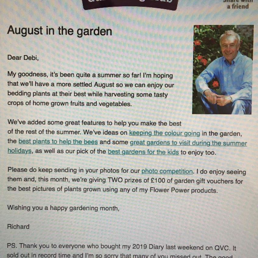 RJG August newsletter