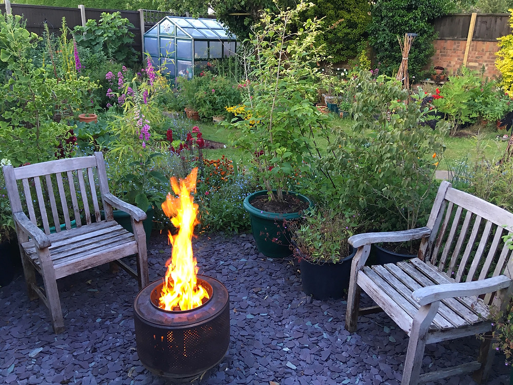 Our garden renovation - fire pit island