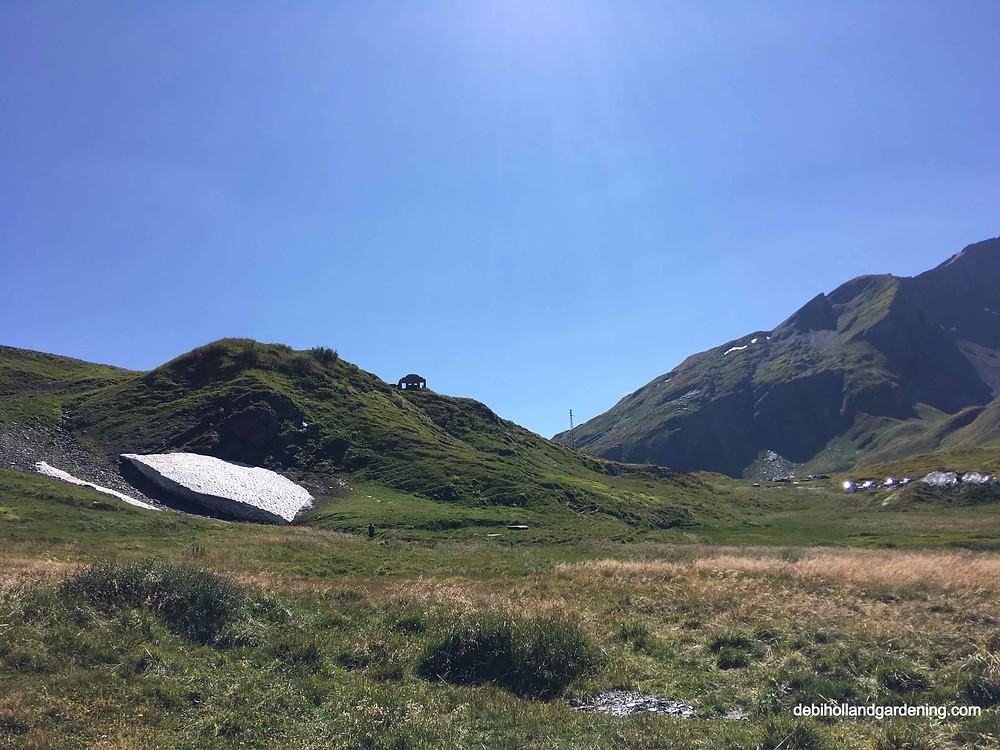 Italian alps just below Col du Petit Saint-Bernard
